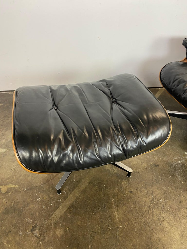 Herman Miller Eames Lounge Chair and Ottoman For Sale 13