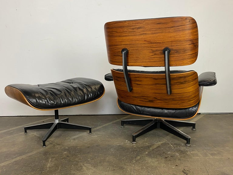 North American Herman Miller Eames Lounge Chair and Ottoman For Sale