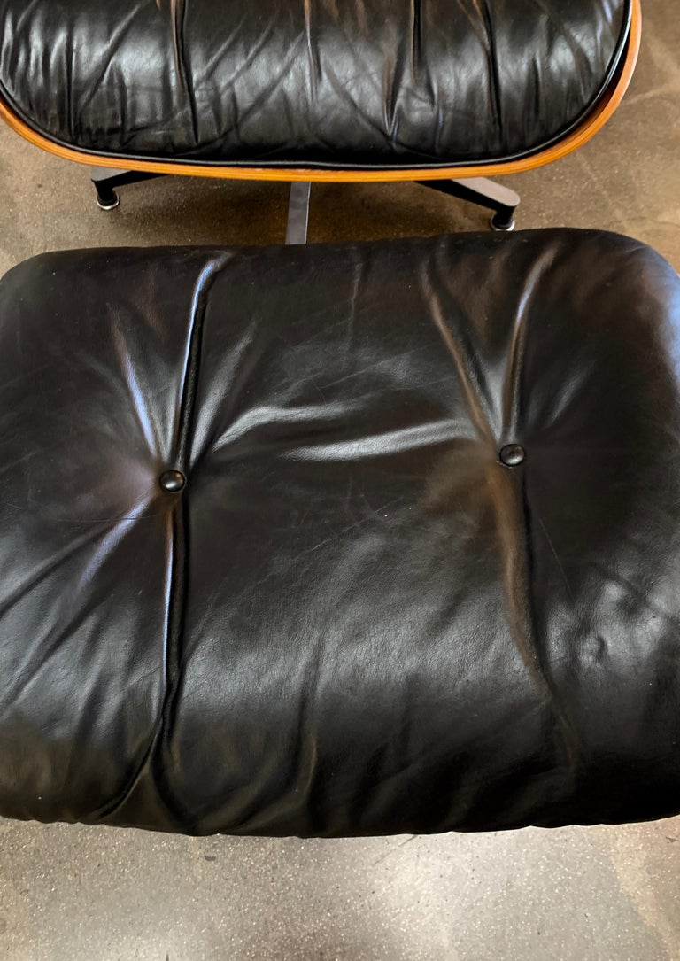 Machine-Made Tall Herman Miller Eames Lounge Chair and Ottoman For Sale