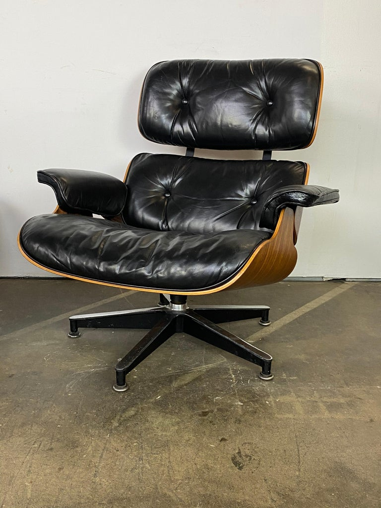 Herman Miller Eames Lounge Chair and Ottoman For Sale 2