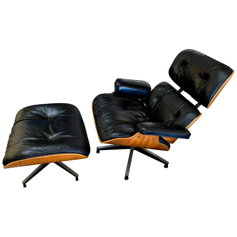 Tall Herman Miller Eames Lounge Chair and Ottoman For Sale