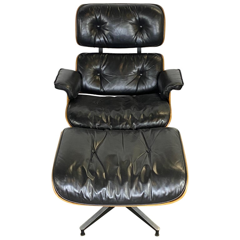 Herman Miller Eames Lounge Chair and Ottoman For Sale