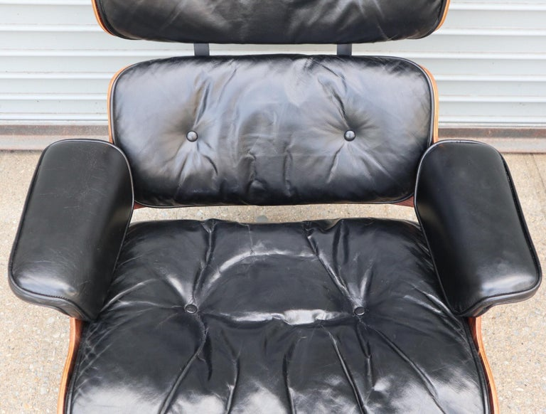 Herman Miller Eames Lounge Chair and Ottoman in Rosewood 6