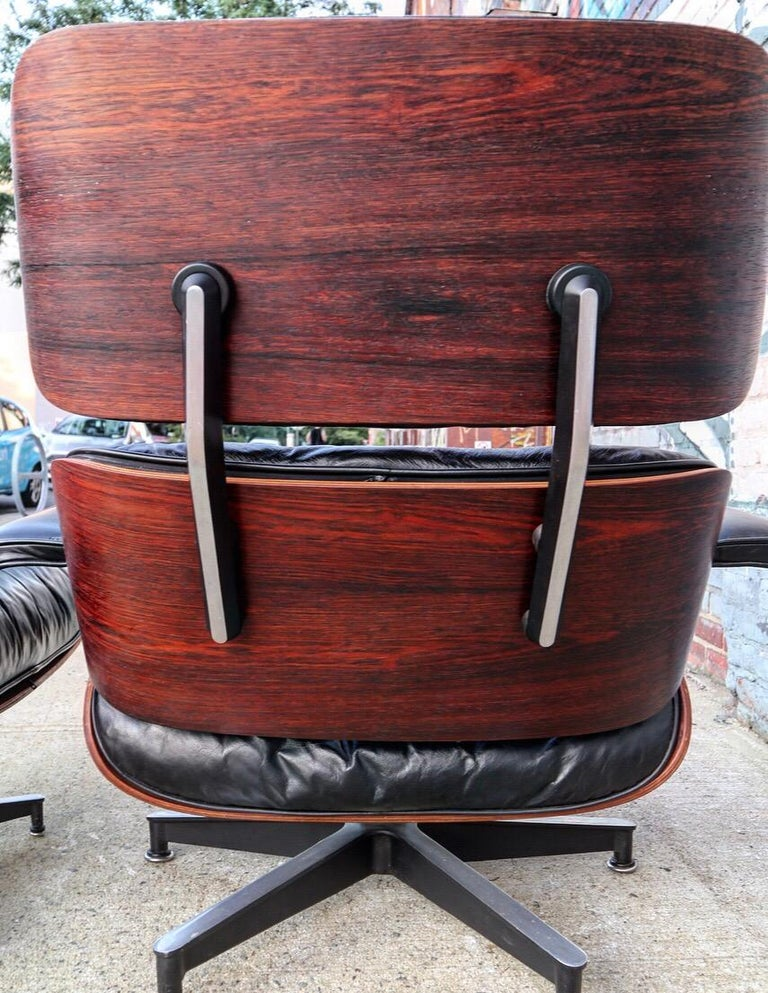 Mid-Century Modern Herman Miller Eames Lounge Chair and Ottoman in Rosewood