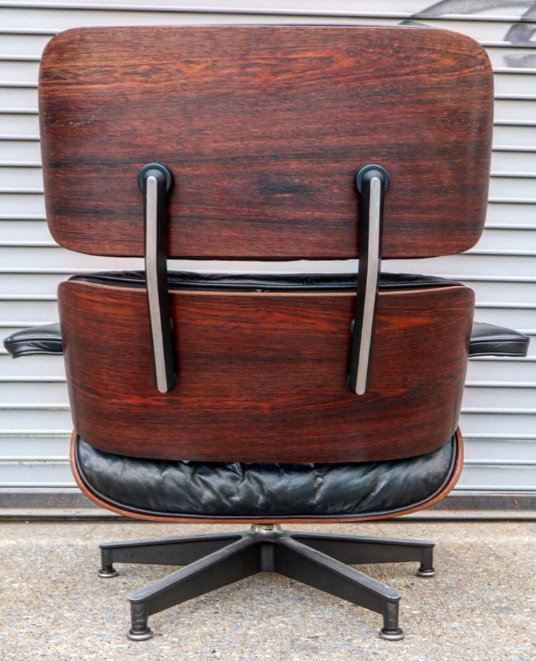 American Herman Miller Eames Lounge Chair and Ottoman in Rosewood