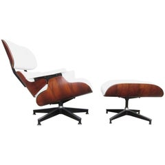 Herman Miller Eames Lounge Chair and Ottoman with New Perfect Custom Leather