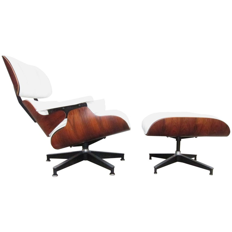 Herman Miller Eames Lounge Chair and Ottoman with New Perfect Custom Leather For Sale