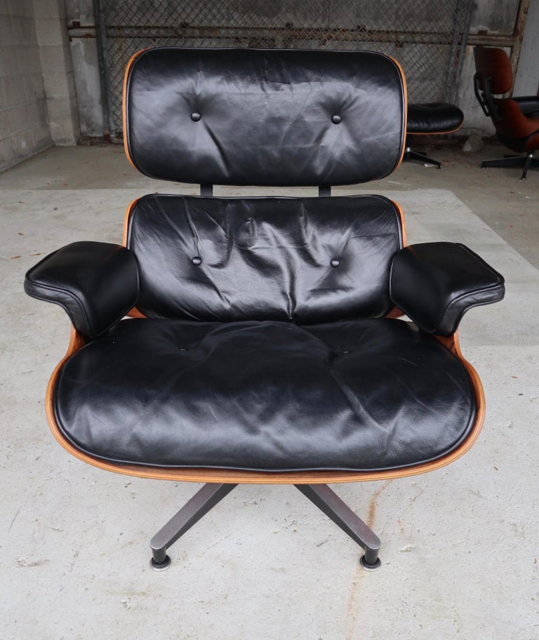 American Herman Miller Eames Lounge Chair in Rosewood