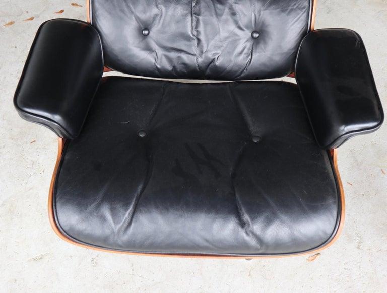 Aluminum Herman Miller Eames Lounge Chair in Rosewood
