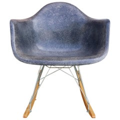 Herman Miller Eames Navy Blue Fiberglass RAR Rocker