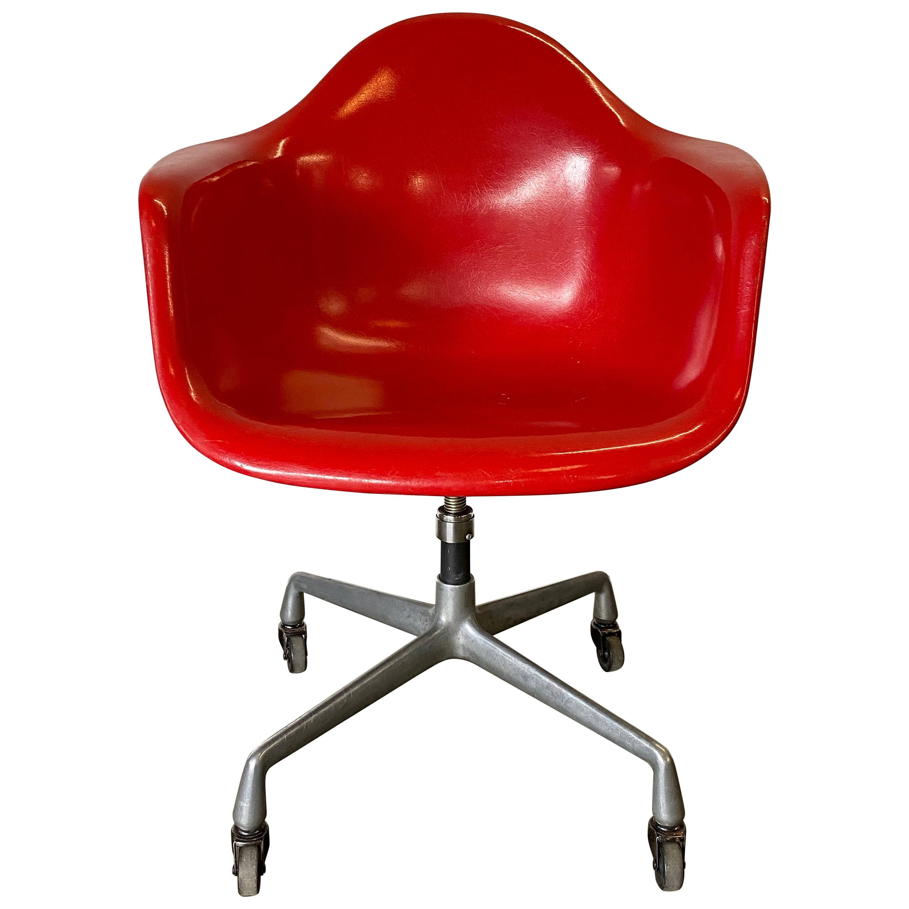 Herman Miller Eames Office Desk Chair in Cherry Red