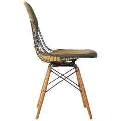Herman Miller Eames PKW-2 Wire Chair with Swivel Dowel Base