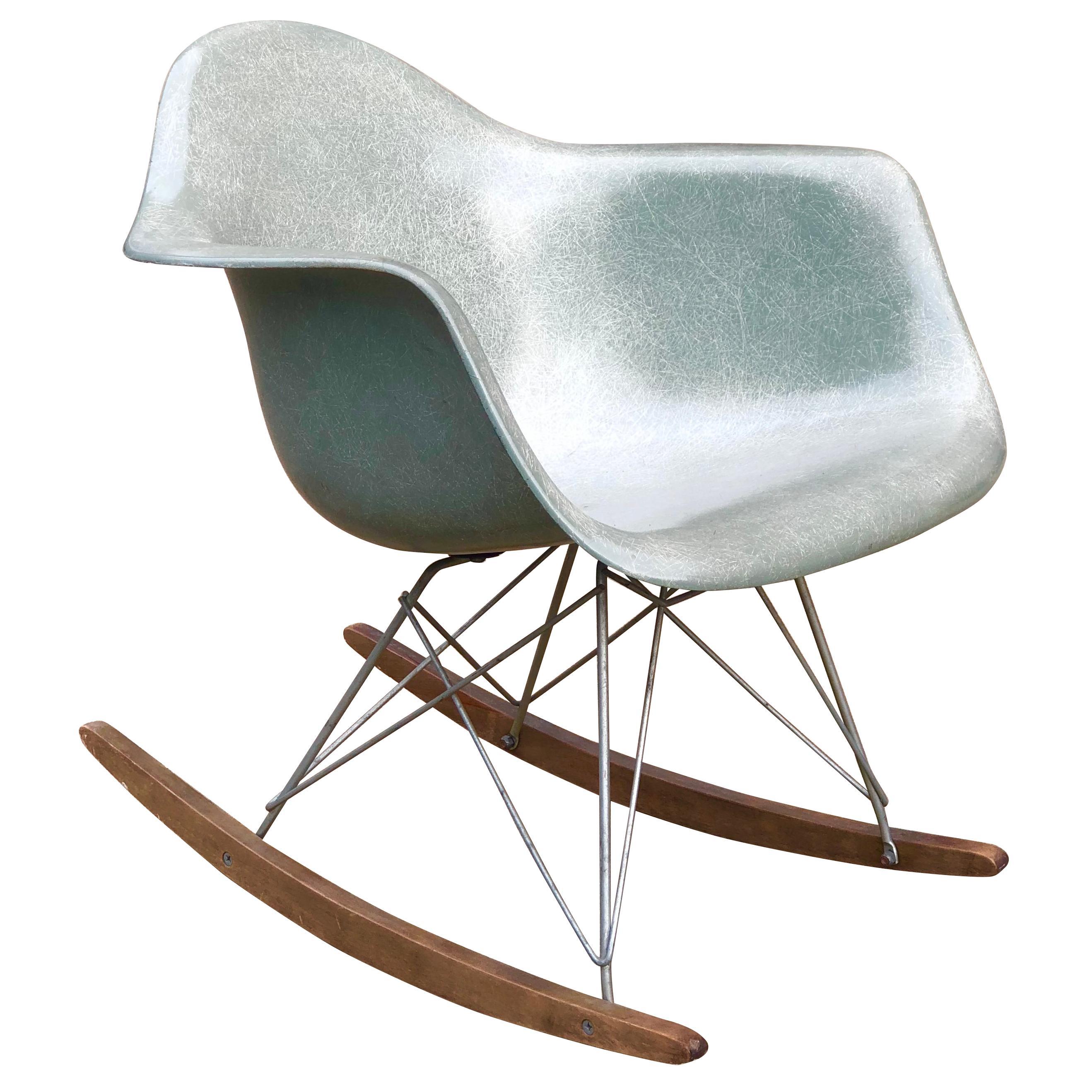 Herman Miller Eames RAR Rocking Chair in Seafoam Green