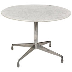 Herman Miller Eames Round Carrara Marble-Top Dining Table