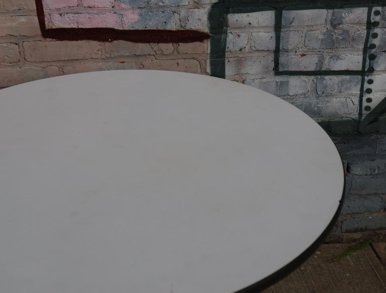 20th Century Herman Miller Eames Round Dining Table with Aluminum Base