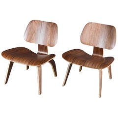 Herman Miller Eames Walnut LCW Lounge Chairs