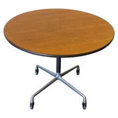 Herman Miller Eames Wood Top Dining Table on Aluminum Base with Casters