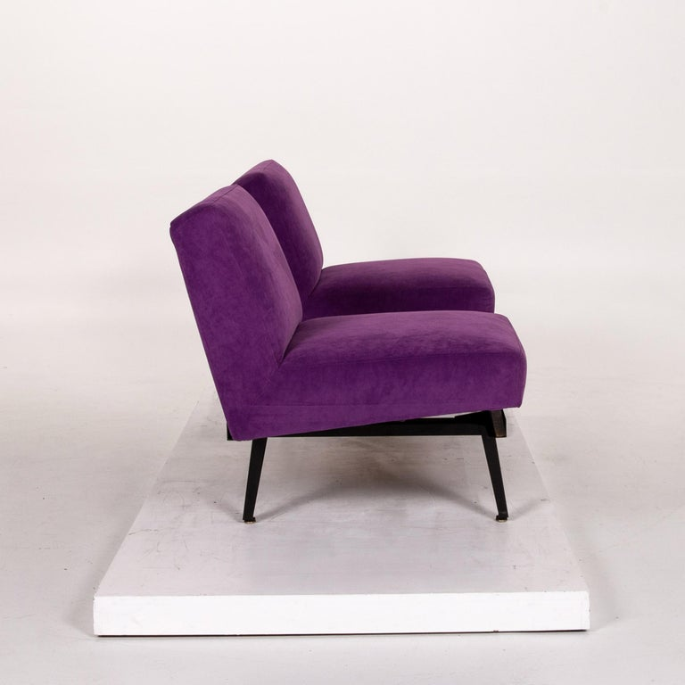 Herman Miller Fabric Sofa Purple Two-Seat Couch For Sale 6