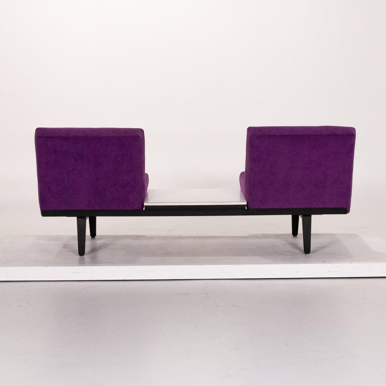 Herman Miller Fabric Sofa Purple Two-Seat Couch For Sale 7