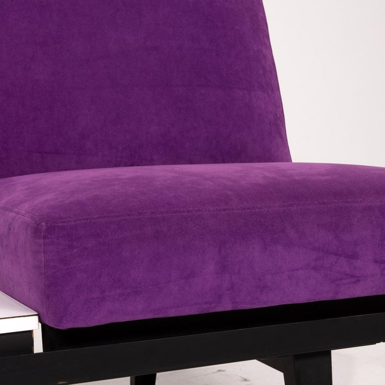 American Herman Miller Fabric Sofa Purple Two-Seat Couch For Sale