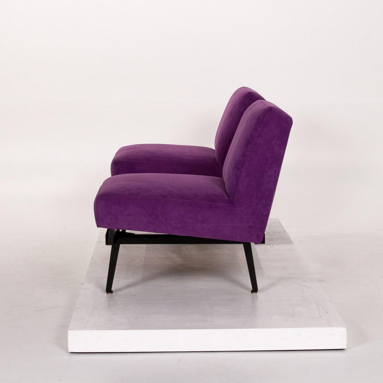 Herman Miller Fabric Sofa Set Purple 2 Two-Seat Couch For Sale 8