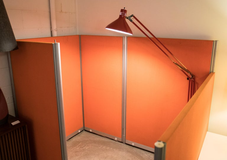 Metal Herman Miller Mid Century Orange Cubical For Sale