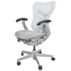 Herman Miller Modern Mirra 2, Ergonomic Office Chair White, Fog