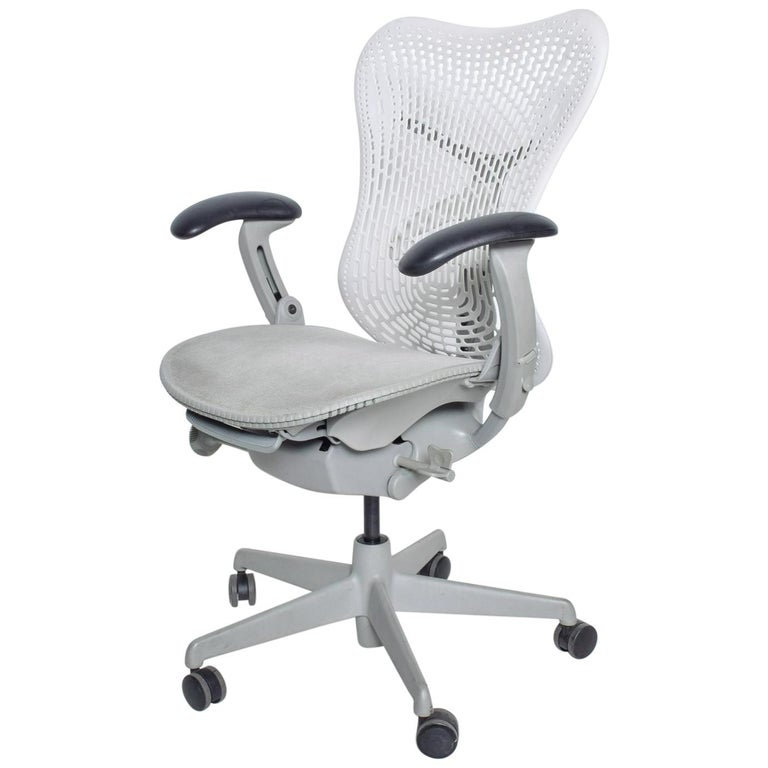 Ergonomic Office Chair White Fog