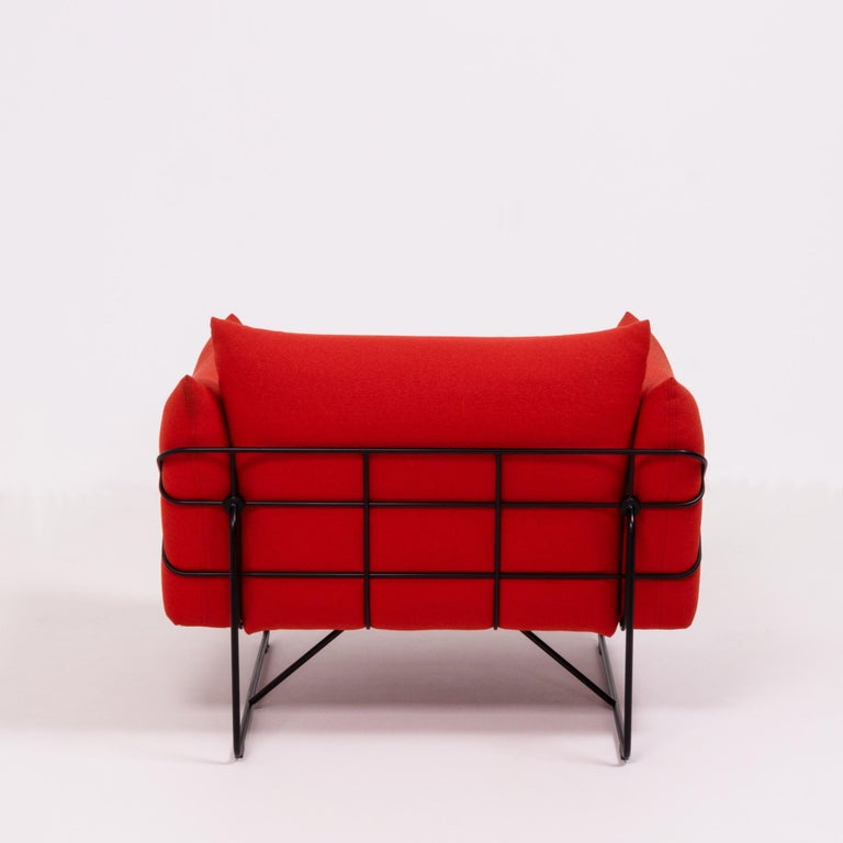 Herman Miller Red Wireframe Lounge Chairs, Set of 2 For Sale 2