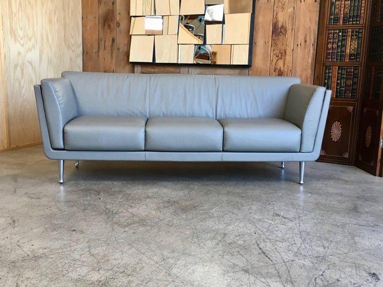 Aluminum Herman Miller Sofa by Mark Goetz For Sale