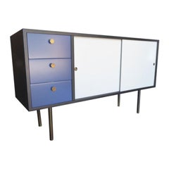 Herman Miller Style Painted Low Cabinet, circa 1960s