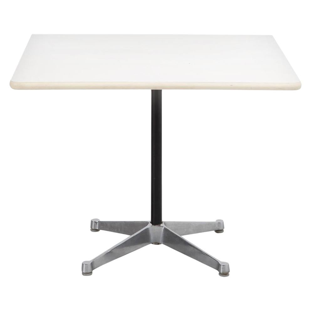 Herman Miller White Square Top Side Coffee Table or Dining Table, 1970s