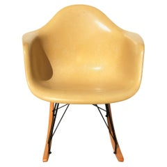 Herman Miller Yellow Shell Fiberglass Rocker by Eames