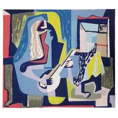 Herman Volz Abstract Woodblock Print