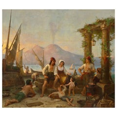 Hermann Brücke Neapolitan Fishing Family, 1863