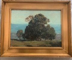 """Eucalyptus Trees"" Hermann Dudley Murphy,  American Impressionist seaside"