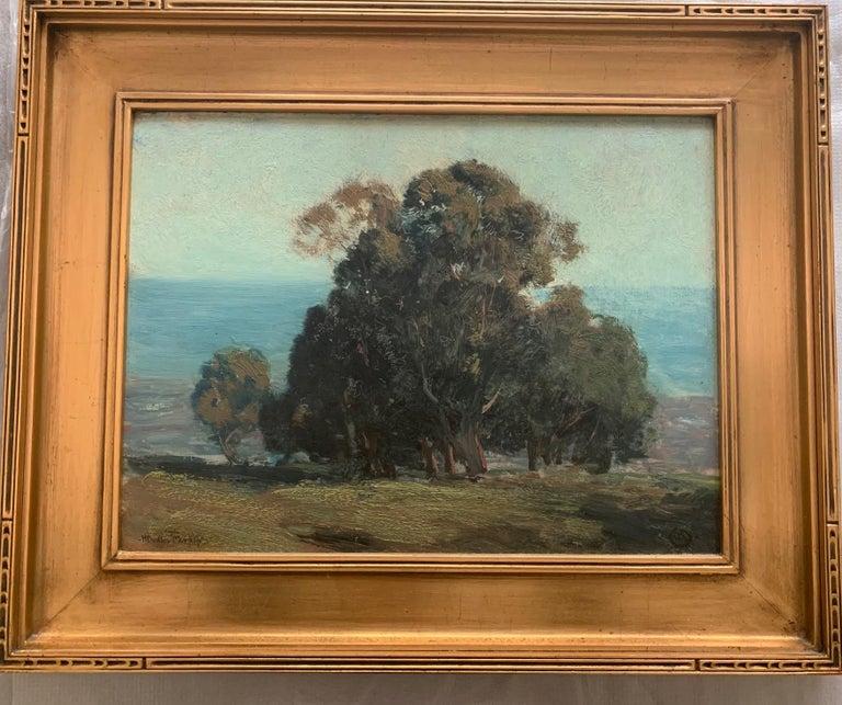 """Eucalyptus Trees"" Hermann Dudley Murphy,  American Impressionist seaside - Painting by Hermann Dudley Murphy"