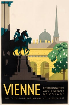 """Vienne"" Original Vintage Travel Poster 1930s"