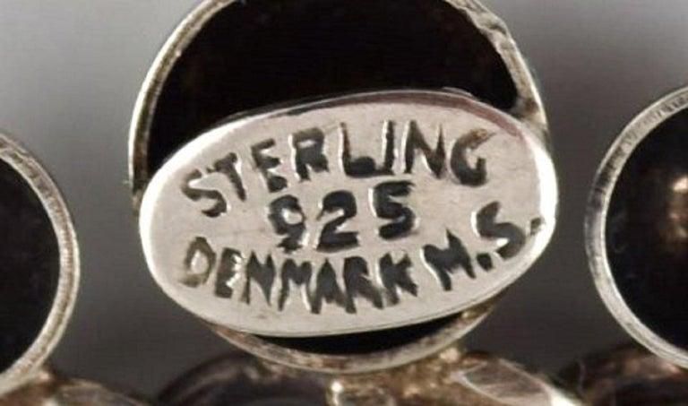 Hermann Siersbøl, Denmark, Modernist Brooch in Sterling Silver For Sale 1