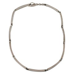 Hermann Siersbøl Denmark Modernist Necklace in Sterling Silver, Mid-20th Century