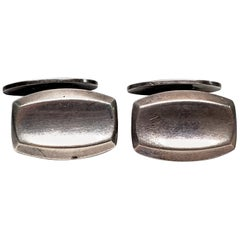 Hermann Siersbol Large Sterling Silver Cuff Links Denmark