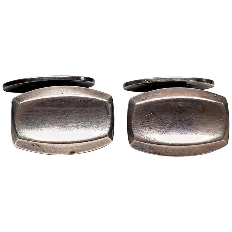 Hermann Siersbol Large Sterling Silver Cuff Links Denmark For Sale