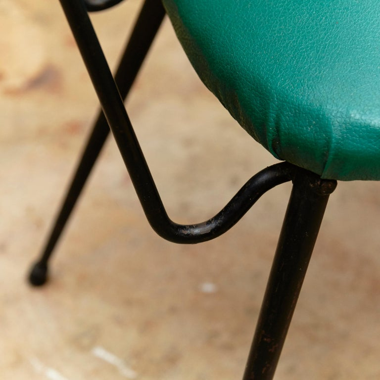 Hermanos Vidal Skie and Lacquered Metal Mid-Century Modern Chair, circa 1950 For Sale 3