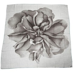 "Hermes  ""140""  Shawl Scarf A Rose For Alma"