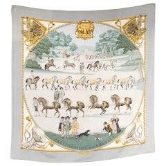 Hermes 1642 Presentation de Chevaux by Philippe Ledoux Silk Scarf