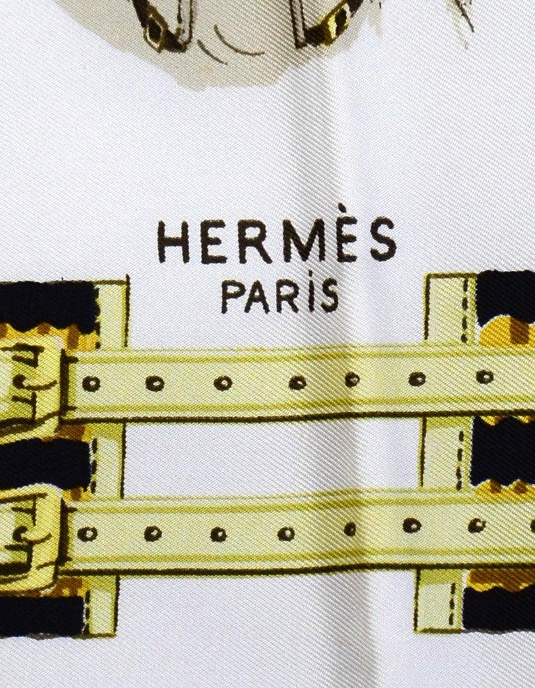 Hermes 1959 Vintage Panache Fantaisie by Hugo Grygkar 90 cm Silk Scarf In Good Condition For Sale In New York, NY