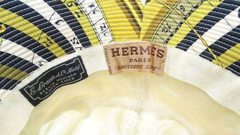 Women's or Men's Hermés 1970s Astrology Bucket Hat  For Sale