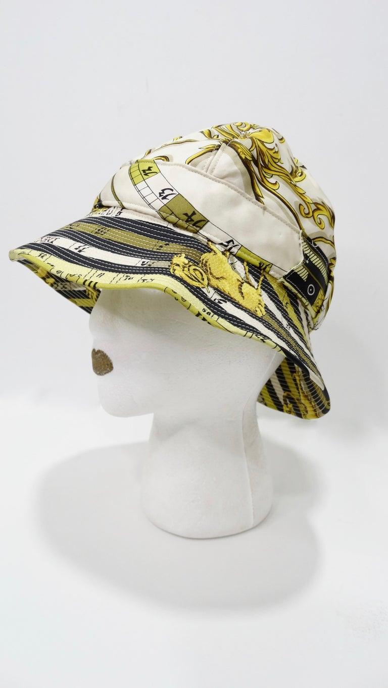 Hermés 1970s Astrology Bucket Hat  For Sale 1