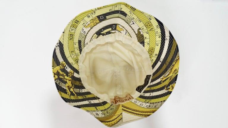 Hermés 1970s Astrology Bucket Hat  For Sale 2