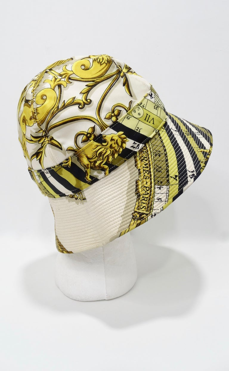 Hermés 1970s Astrology Bucket Hat  For Sale 3